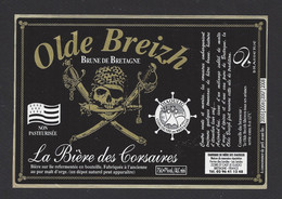 Etiquette De Bière Brune De Bretagne  - Des Corsaires  -  Brasserie Des Diaoulig à Saint Cast Le Guildo   (22) - Beer