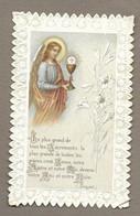 IMAGE PIEUSE/ CANIVET/ DENTELLE.. Le Plus Grand De Tous Les Sacrements, La Plus Grande De Toutes Les Grâces, C'est Jésus - Devotieprenten