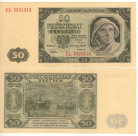 POLAND   50 Zlotych   P138  ( Fisherman -  Port At Back)    Dated 01.07.1948   UNC - Poland