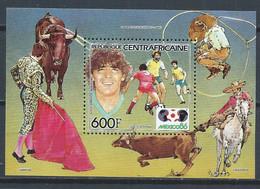 Centrafrique YT Bloc 79 Neuf Sans Charnière XX / MNH Football Corrida - Central African Republic