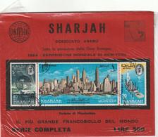 Sharjah (Sceiccato Arabo) 1964 Esposizione Mondiale Di New York - Il Francobollo Piu' Grande Del Mondo - Saudi Arabia