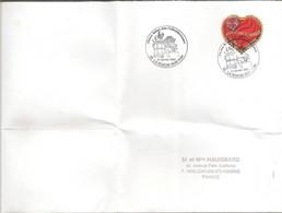 Timbre Seul Sur Lettre N°3862, Coeur Jean Louis Scherrer, Oblitération Temporaire De La Roche Sur Yon (napoleon,BD) - Cachets Commémoratifs