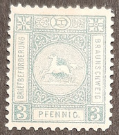 Germany Stadtpost/Privatpost Braunschweig 1888 Unused 3 Pfg Michel 39 - Sello Particular