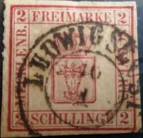 ALLEMAGNE - Mecklenbourg - N° 5 - Timbre Issu D'un Vieil Album Maury - 2 Photos - Mecklenburg-Schwerin