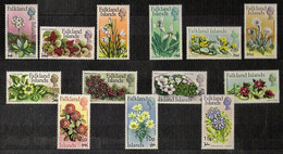 Falklands 1971 Mi 192-204 Flowers Definitive (Surcharged) - MNH - Falkland Islands
