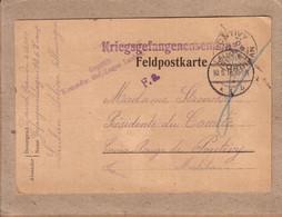 POLOGNE MORBIHAN - KRIEGSGEFANGENENSENDUNG - CARTE DE LAUBAN SILESIE POUR COMITE CROIX ROUGE DE PONTIVY - 19161915 - Cartas