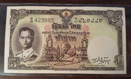 Thailand Banknote 5 Baht Series 9 Type 4 P#75b SIGN#34 M96_883 - Thailand