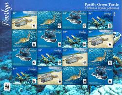 Penrhyn 2014 Turtles Marine Life WWF MNH - Turtles