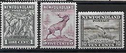 Neufundland 1932 Lot  Mi.-Nr. 185, 188, 178 */MH - 1908-1947