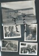 Extrait Archives Commandant Marinier, 19 Photos Diverses , Famille ,  Avion Bpho 72 - Albums & Collections