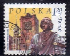 POLONIA POLAND POLSKA 2003 TOURISM MONUMENTS TOWERS OF OLD CITY HALL COPERNICUS STATUE TORUN 1.20z USATO USED OBLITERE' - Usati