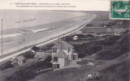 Vierville-sur-mer, Panorama De La Plage (côté Est), Vue Splendide Sur Toute La Baie Jusqu'aux Rochers Du Calvados Animée - Villers Sur Mer