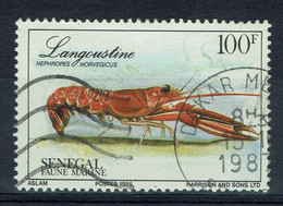 Sénégal, 100f, Langoustine (Nephrops Norvegicus), 1985, Obl, TB - Senegal (1960-...)