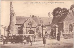 CPA Lanloup L'Eglise Paroissiale 22 Côtes D'Armor - Other Municipalities