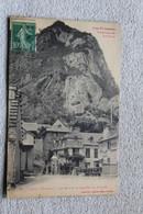 Cpa 1923, Cierp, Le Rocher Et Le Pont Du Village, Haute Garonne 31 - Other Municipalities