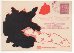 Sudetenland Postamt Franzensbad 1938 Befreiungsstempel - Occupazione 1938 – 45