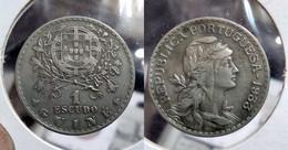PORTUGUESE GUINEA 1 ESCUDO 1933 Km#5 (G#05-11) - Guinea-Bissau