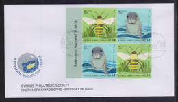 CYPRUS 2021 EUROPA CEPT SET STAMPS FROM BOOKLET ON UNOFFICIAL FDC - Cartas