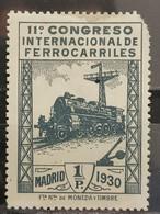 España. 1930. XI Congreso Ferrocarriles. Edifil 479 * - Nuevos