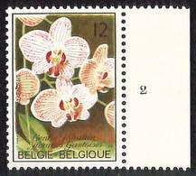 D - [163601]TB//**/Mnh-Belgique 1985 - N° 2164-pl2, Floralies Gantoise VII, Malibu, Fleur, Orchidée, N° De Planche, SNC - Orquideas