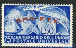 A Trieste 1949 N. 40  Lire 50 Azzurro MNH Cat. € 7 - Mint/hinged