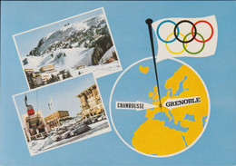 France Postcard 1968 Olympic Games In Grenoble - Used Grenoble 1967   (G100-66) - Winter 1968: Grenoble
