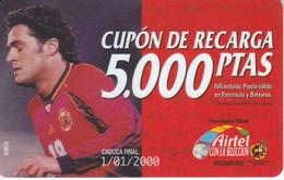 ACR-026 TARJETA DE AIRTEL DE KIKO, JUGADOR DE LA  SELECCION ESPAÑOLA DE 5000 PTAS - Deportes