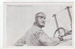 Aviateur Vidart Sur Monoplan Deperdussin  -  CPA - Aviatori