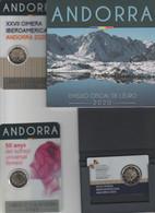 ANDORRA EUROS 2020 SERIE ESPECIAL, PROOF, XXVII CIMERA IBEROAMERICANA ANDORRA 2020 Y SUFRAGI UNIVERSAL. OFERTA ESPECIAL. - Andorra