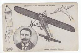 Aviateur Gaget, En Vol, Sur Monoplan Morane  -  Honneur A Nos Oiseaux De France  -  CPA - Aviatori