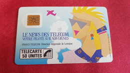TELECARTE LE NEWS DES LELECOM 50 UNITE - Other