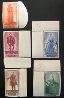 Belgique 1949 Cob 818/22 MNH** - Ungebraucht