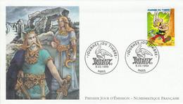 FDC 1999 JOURNEE DU TIMBRE BD ASTERIX - LILLE - 1990-1999