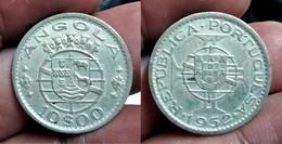 PORTUGAL ANGOLA 10 ESCUDOS 1952 Km#73 SILVER (G#05-21) - Angola