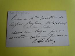 CDV Autographe Caroline SALLA (1852 - ?) Chanteuse D'OPERA - SOPRANO - Autographs