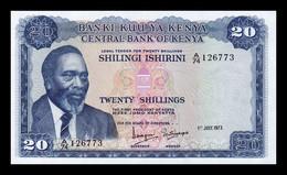 Kenia Kenya 20 Shillings 1973 Pick 8d SC UNC - Kenya