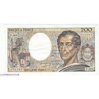 200 Francs MONTESQUIEU 1989 Fayette 70.9 SUP - 200 F 1981-1994 ''Montesquieu''