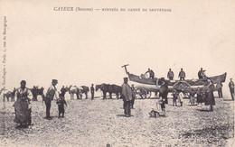 Cayeux, Somme, Rentrée Du Canot De Sauvetage , Société Cte De Sauvetage Des Naufragés, Animée, Chevaux - Cayeux Sur Mer