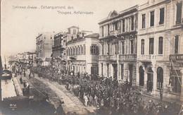 026 - B&W - Smyrne - Grèce Turquie - Débarquement Des Troupes Helléniques - War Troops Military - Written - 2 Scans - Turkey