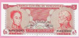 5 BOLIVARES 1989 VENEZUELA UNC - Venezuela