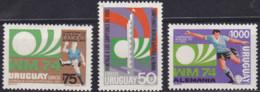 Uruguay, 1974, 1302/04,  Football World Cup, Germany 1974, Soccer,  MNH ** - 1974 – Alemania Occidental