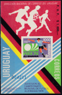 Uruguay, 1974, 1304 Block,  Football World Cup, Germany 1974, Soccer,  MNH ** - 1974 – Alemania Occidental