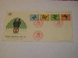 Indonesia BUTERFLIES FDC 1963 - Indonesia