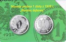TARJETA DE POLONIA DE UNA MONEDA DE 1 ZLOTY (COIN) - Francobolli & Monete