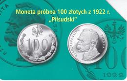 TARJETA DE POLONIA DE UNA MONEDA DE 100 ZLOTY (COIN) - Francobolli & Monete