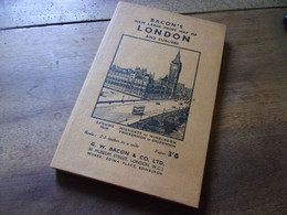 BACON S NEW LARGE PRINT MAP OF LONDON - Europa
