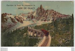 CHAMONIX MONT BLANC CARTE A SYSTEME 10 VUES DERRIERE LE TRAIN TU TROUVERAS LA MER DE GLACE - Chamonix-Mont-Blanc