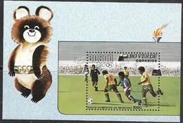 Cape Verde  1980   Sc#409 Olympics Soccer Souv Sheet  MNH    2012 Scott Value $18 - Cape Verde