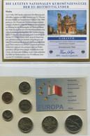 Kursmünzensatz In Cent Und Lm 1998 Bis 2001 - Malta