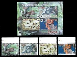 Samoa 2015 Snakes WWF MNH - Snakes